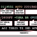 Fig. 1. Body and Remarks sections of a METAR report.