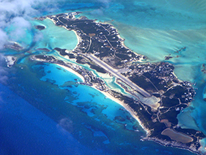 Caribbean island.jpg where the starfish used to be and caption: The airport at Providenciales in the Turks & Caicos.