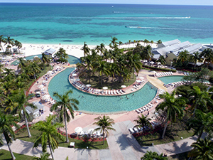 The pool at the Our Lucaya resort in Freeport, Grand Bahamas