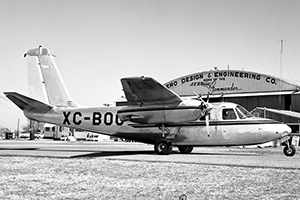 This 560A, s/n 306, received an Export Certificate of Airworthiness on March 24, 1956 and was sold the same day to distributor Vest Aircraft & Finance Co., of Denver, Colorado. Their customer was Petroleos Mexicanos SAdeCV (PEMEX) of Mexico City. It is shown at the Aero Design factory in Bethany before delivery.