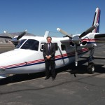 Jerry Hammes Mowbray with the 680F(P) that he has owned and flown since 1989. His grandfather, Romy Hammes, bought a 520 Commander in 1953, and then a 560 in 1961.