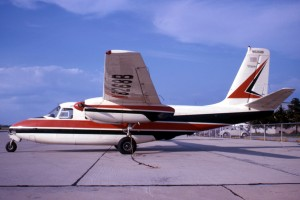 N6268B is serial number 812, the 84th example built and the image has been scanned from a color slide taken on July 3rd 1965 at Champaign, University of Illinois airport but the photographer is not known. At that time it was owned by J M Jones Co Inc., of Champaign, Illinois. The two-bladed propellers and an extended wing outboard of the ailerons are clearly visible.