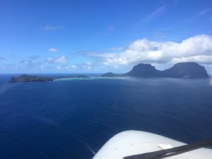 Approaching Lord Howe Island