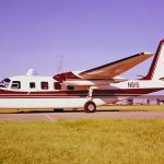 Scanned from an un-numbered negative in a factory collection, N615 is serial number 1454-82 and is seen here at Bethany-Wiley Post airport in factory paint design #'A', in Bluetone White and Scarlet Red. It was sold new to the U.S. Department of the Interior on November 23, 1964. After almost 14 years of service with the agency, it was sold to the Tennessee Valley Authority, in Chattanooga, in June 1978, having been re-registered as N618D in February 1978. The registration was cancelled in 1989.